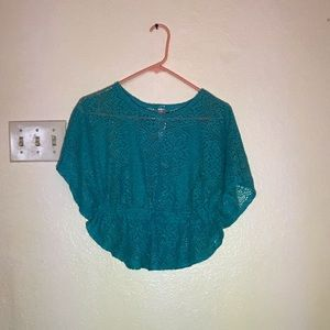 Small turquoise/blue shirt